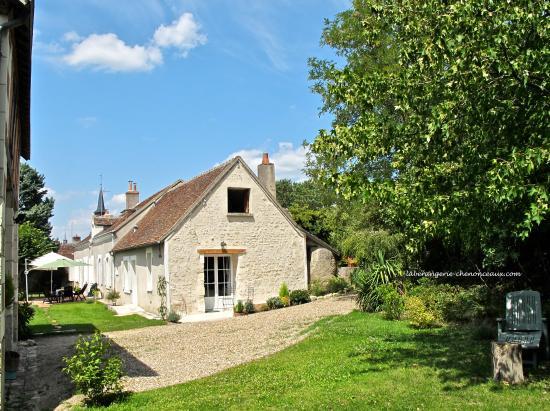 Francueil, Frankrike: La Bérangerie côté terrasse Sud