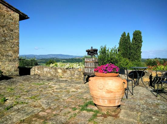 Torre di Ponzano - Chianti area - Tuscany - : Stunning private areas with amazing views of the Tuscan countryside