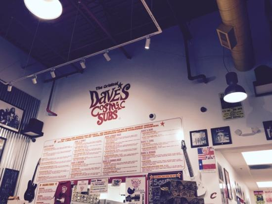 Fairlawn, OH: Dave's menu where you order from the counter