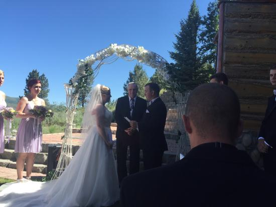 Pine, ID: We had a fairytale wedding for my Granddaughter. It was such a beautiful setting and Gary and De