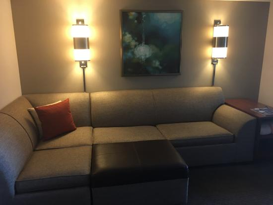 Hyatt Place Minneapolis Eden Prairie Large Sleeper Sofa With Sectional Foot Rests