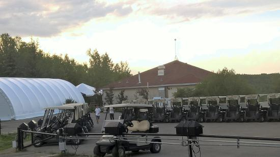 Golf Carts at the Athabasca Golf and Country Club.