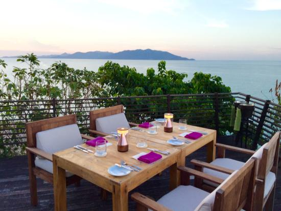 Dining on the Rocks: View from table 100