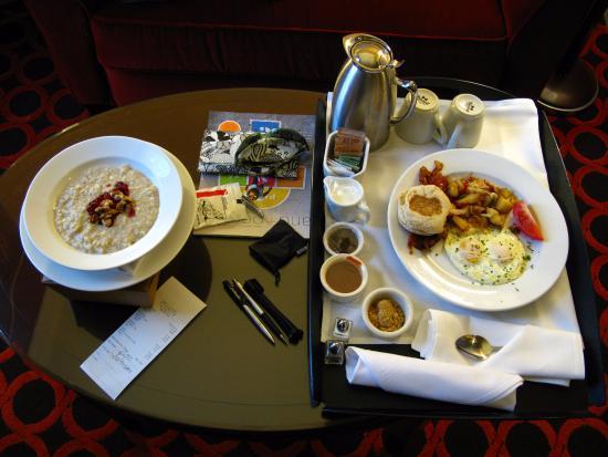 "Hotel Monaco Salt Lake City - a Kimpton Hotel: Breakfast, ordered via ""door hangar""."