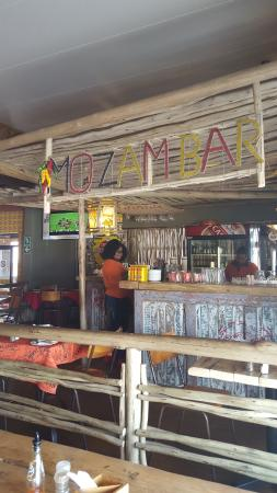 Mo-zam-bik: Bar Area - fully stocked