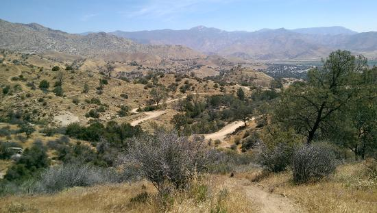 Kernville, CA: View from one of the mountain biking trails