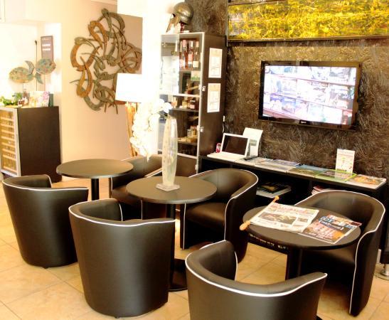 Hôtel Les Grenadines : Salon intérieur