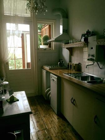 Bed and Breakfast Amsterdam: Kitchen with fridge and stove