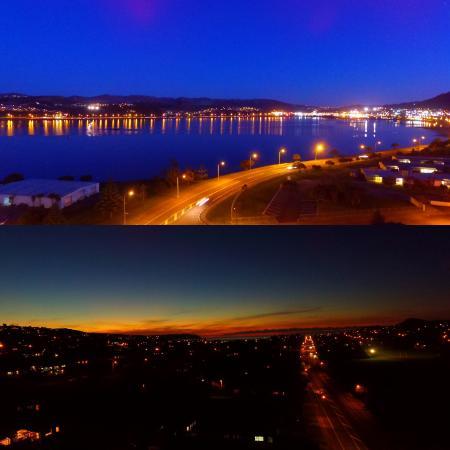 Beautiful autumn fall evening on Porirua harbour
