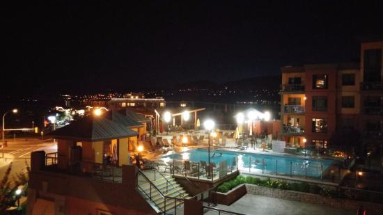 Playa del Sol: Night view from balcony of 5th floor.