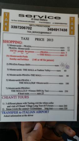 Prada Outlet (Space): Taxi price