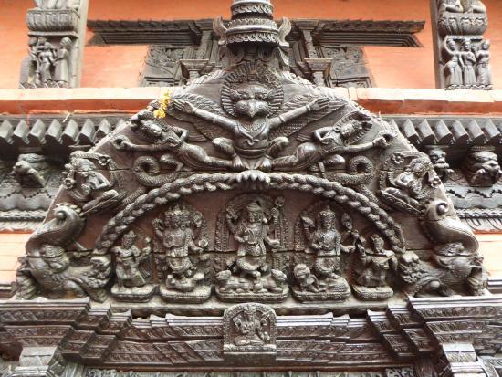 Nepali Temple (Kathwala Temple) : Above main entrance