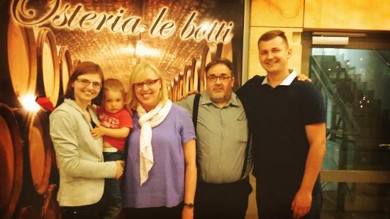 Osteria Le Botti: Mieliśmy zaszczyt zrobić sobie zdjęcie z właścicielami restauracji, pasjonatami włoskiej kuchni