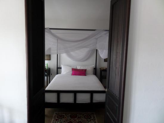 Mekong Estate: Entrance to the bedroom at Jade suite