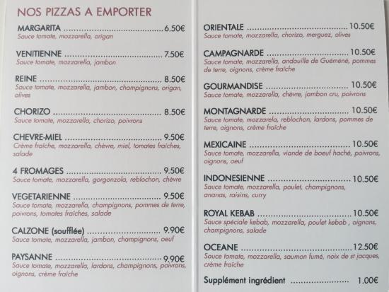 Grand Fougeray, France: PIZZAS A EMPORTER