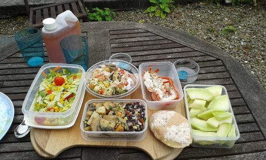 St Dogmaels Local Producers Market: Lunch, courtesy of the market!