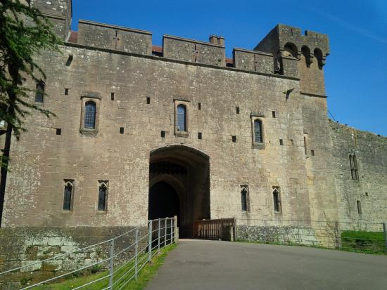 The stunning Caldicot Castle across the road,
