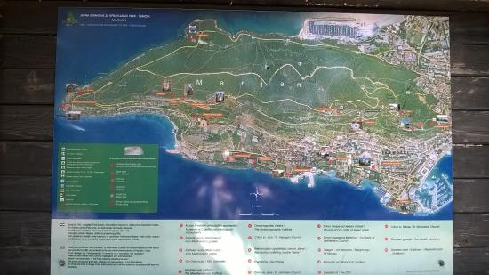 Overall Map of Marjan Forest Park Picture of Marjan Split