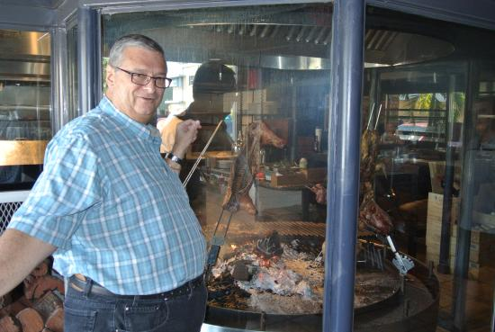 Graziano's - Miami: big barbecue pit, so you can see and choose what you want