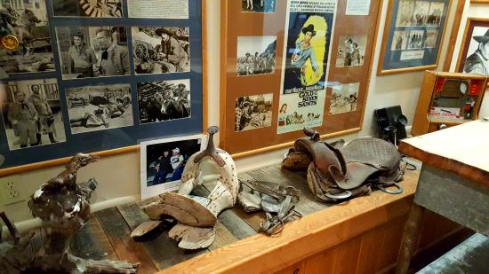 Moab Film Museum: Well done displays...with old saddle trees