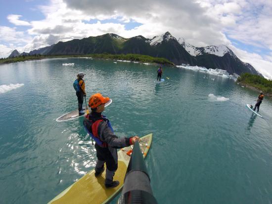 Bear Glacier : SUP trip with Liquid Adventures in Seward, stunning views all around.