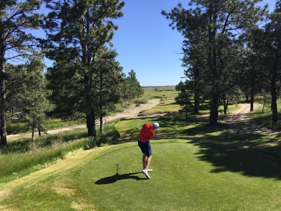 the prairie club a tight tee shot on the pines
