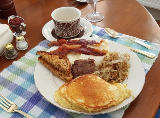 Chocorua, NH: A typical breakfast, it changes daily