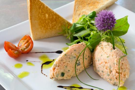 Hotel Restaurant Castillan : rillette de truite
