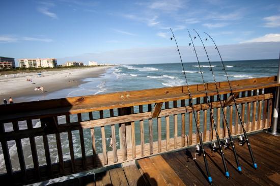 Cocoa Beach Pier Fishing Poles
