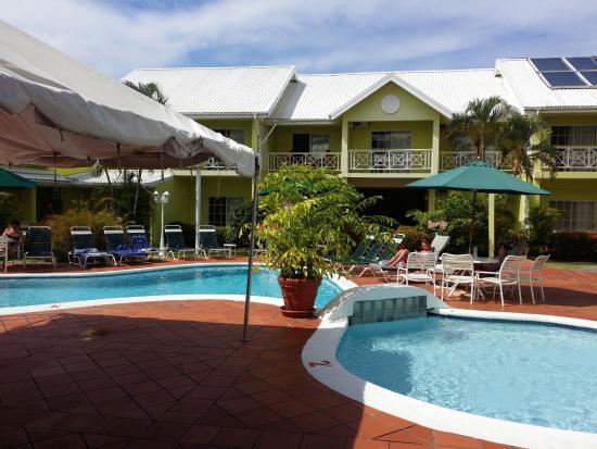 Bay Gardens Hotel: Vu de la terrasse de notre chambre