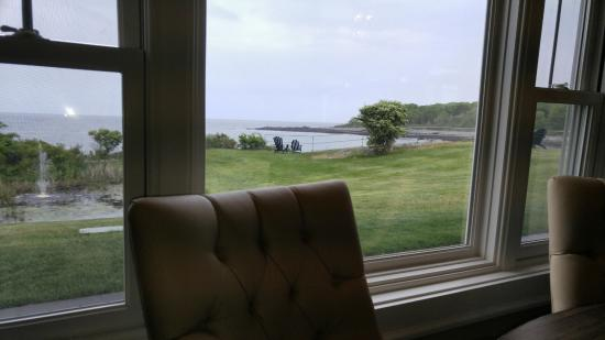 York Harbor, ME: view from our window table
