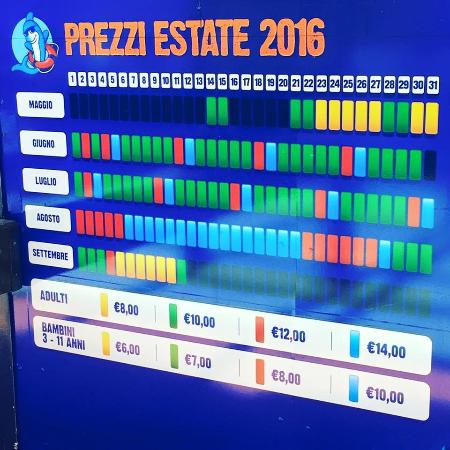 Prezzi estate 2016