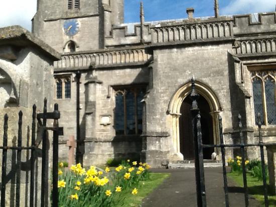 Croscombe, UK: The church behind the b&b.