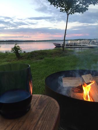 Emily, MN: View from our lakefront fire pit.