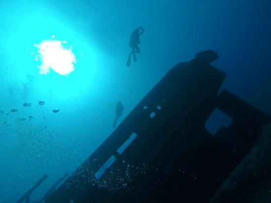 Blue Marlin Dive Gili Trawangan: wreck dive gili t