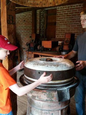 Neligh Mills: Original grindstone