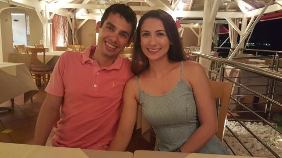 Marigot, Guadalupe: jantar com os amigos