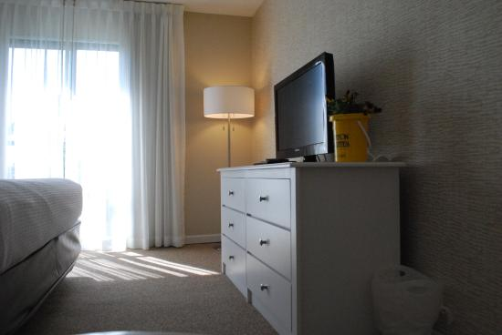 Brighton Suites Hotel: Flat Screen TV's with DVD players in Every Room. Complimentary DVD's available in the Lobby