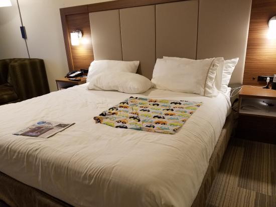 Holiday Inn Express Greenville: nice modern bed, very comfy