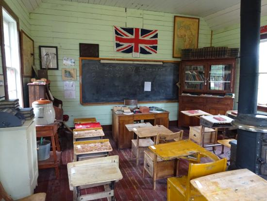 Kootenai Brown Pioneer Village: Inside the school house