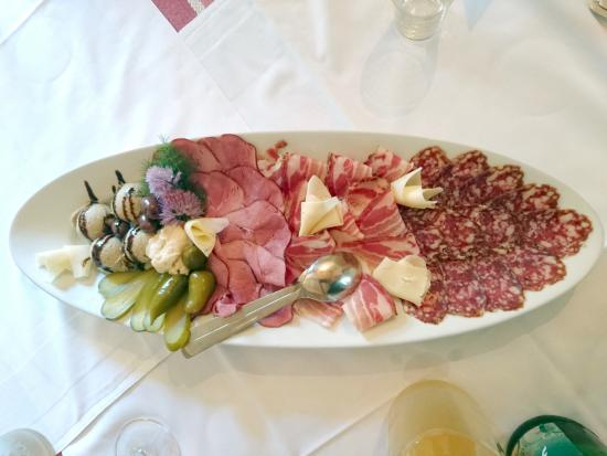 Medvode, Slovenia: Drymeat plate with liver pate