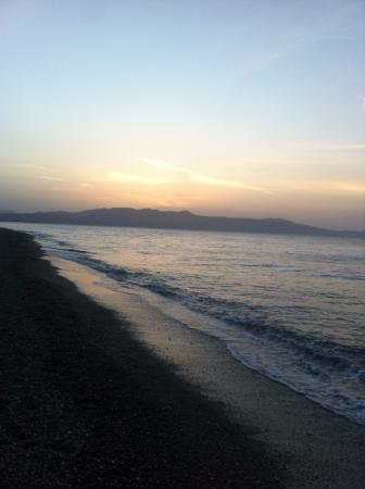 Sunset - hotel beach