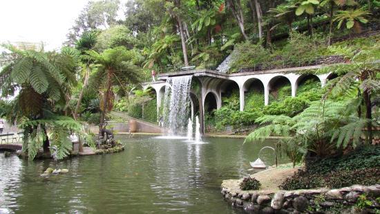 Laghetto Con Cascata Da Giardino : Il laghetto con la cascata allinterno dei giardini tropicali foto