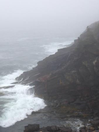 Riverport, Canada: More rugged coast on foggy morning