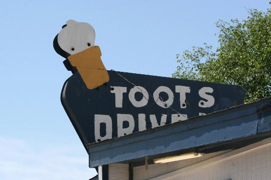 Toot's Drive-In: Toots Drive-In Sign