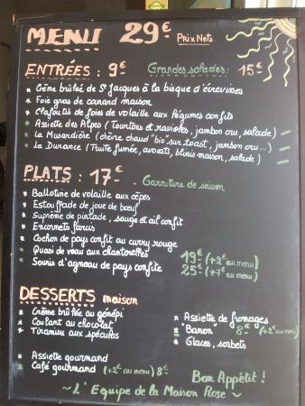 Le restaurant picture of la maison rose forcalquier tripadvisor - Eugenie les bains la maison rose ...