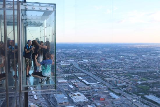 Beautiful Skydeck Chicago   Willis Tower: Being On The Ledge At The 103rd Floor Of  Willis