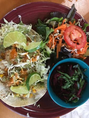 Vegeria Vegan Restaurant Fried Avocado Tacos