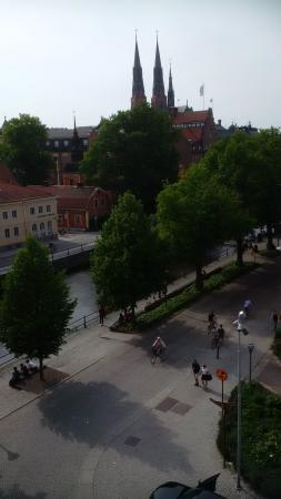 Uppsala, Schweden: View from bedroom in teh hotel