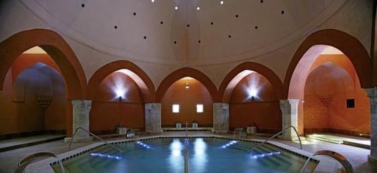 Veli Bej Bath : Inside the Turkish bath at Veri Bej Spa.